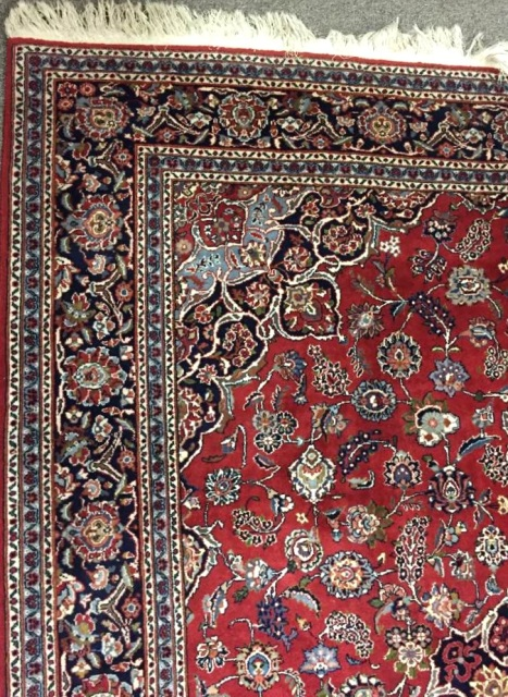 Hand Knotted Red Rug